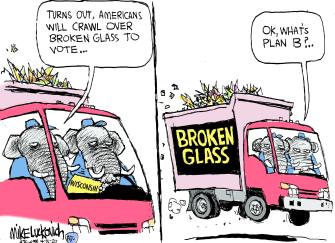 Political Cartoon U.S. Republicans wisconsin vote