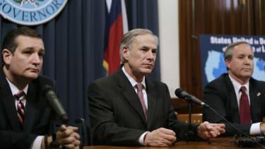 U.S. Sen. Ted Cruz, Texas Gov. Greg Abbott, and Texas Attorney General Ken Paxton.