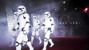 Stormtroopers at the Star Wars: The Last Jedi London premiere.