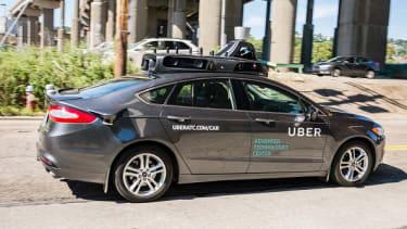 A self-driving Uber car.