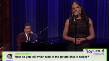 Jimmy Fallon and Audra McDonald find a way to make kooky Yahoo Answers enjoyable