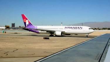 A Hawaiian Airlines plane.