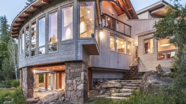 This Idaho home is nestled in the Rocky Mountains.