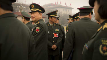 Chinese People's Liberation Army delegates.