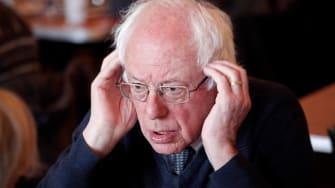 Bernie on the defensive.