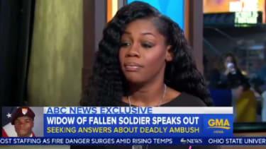 Myeshia Johnson says President Trump made her cry on his condolence call.
