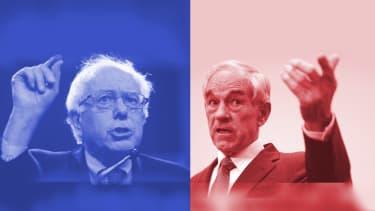 Sen. Bernie Sanders and Ron Paul.