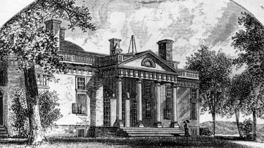 An 1810 engraving of Jefferson's Monticello