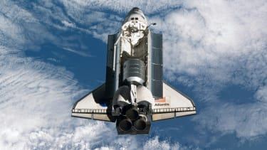 NASA space shuttle Atlantis in Earth orbit.