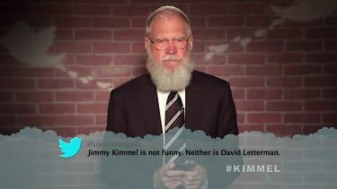 David Letterman reads a mean tweet about Jimmy Kimmel