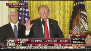 President Trump announces Space Force.