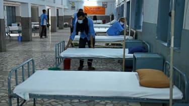 Coronavirus care center in India.