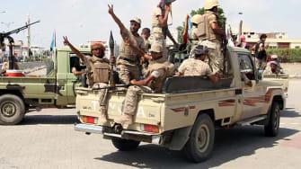 Fighters in Yemen
