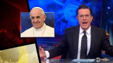 Mad over Cuba, Colbert calls for a U.S. trade embargo on Vatican City