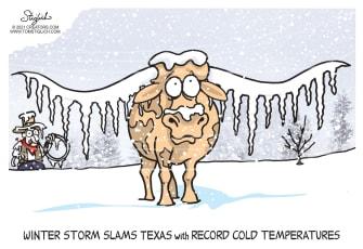 Editorial Cartoon U.S. Texas winter storm