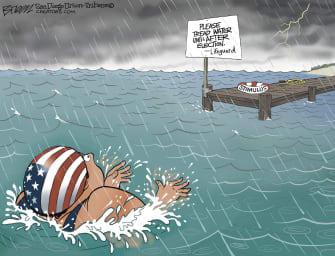 Political Cartoon U.S. COVID stimulus