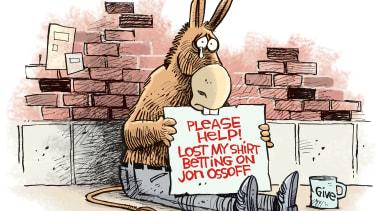 Political cartoon U.S. Democrats Georgia election loss Jon Ossoff