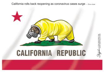Editorial Cartoon U.S. California coronavirus