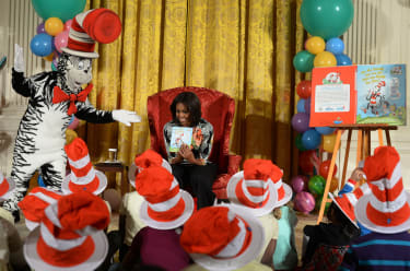 dr seuss being read at white house