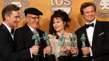 """""""The King's Speech"""" is raking in the pre-Oscar awards, with honors including Outstanding Performance by a Cast at the SAG Awards on Saturday."""