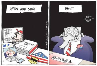 Political Cartoon U.S. gop impeachment