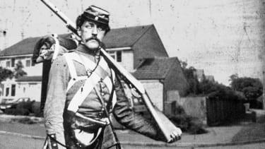 A Civil War soldier.