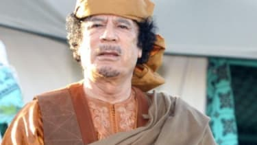 Moammar Gadhafi in April 2011: The embattled Libyan leader is reportedly open to making a deal to step down, under a series of strict conditions.