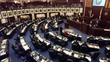 Floridian lawmakers are divided on the issue of gun control.