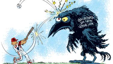 Editorial Cartoon U.S. mlb georgia voting law