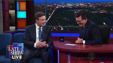 Stephen Colbert asks Josh Earnest to grade Sean Spicer