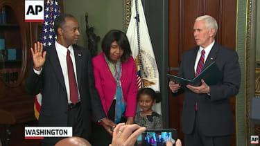 Ben Carson is sworn in as HUD secretary