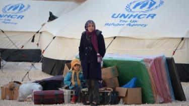 Syrian refugees in Jordan.