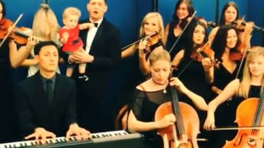 Michael Buble sings 'Let It Go' with a full string orchestra