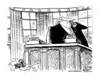 Political Cartoon U.S. Trump Putin Input