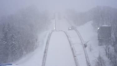 Snow in Japan.