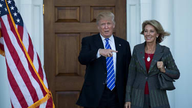 Donald Trump and Betsy DeVos.