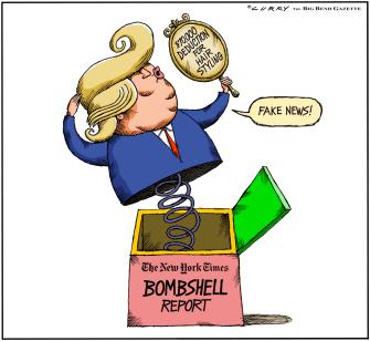 Political Cartoon U.S. Trump taxes hair deductions