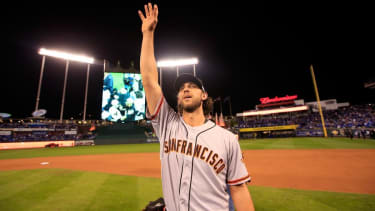 Giants ace Madison Bumgarner is the No. 3 all-time best World Series pitcher, says The New York Times