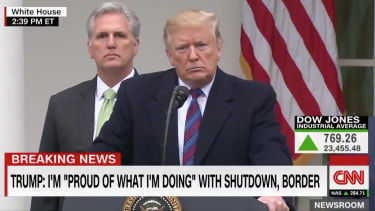 President Trump and House Minority Leader Kevin McCarthy.