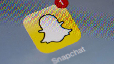 The Snapchat app on a device