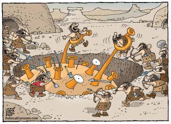 Editorial Cartoon U.S. covid cavemen