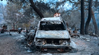 Wildfire damage in California