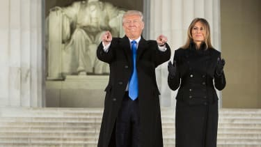 Donald and Melania Trump attend Trump inaugural concert