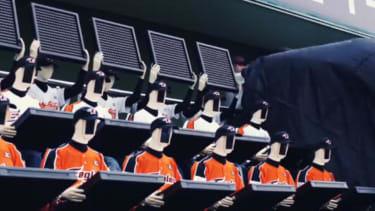 South Korea has robots to cheer at its baseball games