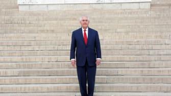 Rex Tillerson stands alone