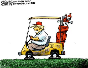 Political Cartoon U.S. Trump second impeachment