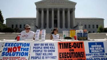 Anti-death penalty activists.