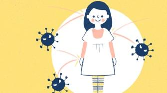 A child and coronavirus.