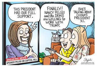 Political Cartoon U.S. Nancy Pelosi Xi Jinping