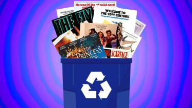 A recycling bin.
